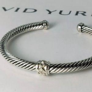 DAVID YURMAN 5mm Renaissance Bracelet w Diamonds